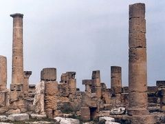 Libya: Relics of Cyrene in the north-western part of the Agora - by <b>Maciejk</b> ( a Panoramio image )