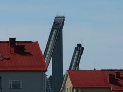 View to ski jump ramps over the roofs by <b>Nelsson</b> ( a Panoramio image )