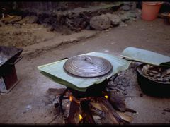 Madagascar, Nosy Be, Hellville, rice cooking with banana leaf co by <b>Pierre Marchand</b> ( a Panoramio image )