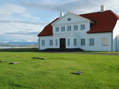 Bessastadir ( the president?s residence ) and Reykjavik in the b by <b>MichaelN</b> ( a Panoramio image )