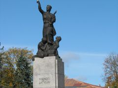 Rezekne. The sculpture of  United Latvia (Mara) by <b>IVAN_BY</b> ( a Panoramio image )