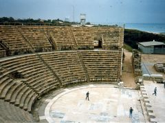 Caesarea National Park Amphitheatre, 1989 (Israel) by <b>Daniel.Bisson</b> ( a Panoramio image )