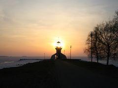 Sunset, Oulu-Nallikari by <b>Kimmo Lahti</b> ( a Panoramio image )