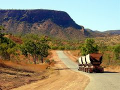 Road Train Near Argyle W.A. by <b>Peter Connolly</b> ( a Panoramio image )