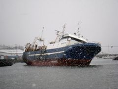 Lomur II stranded in Kopavogur harbour.                          by <b>Sig Holm</b> ( a Panoramio image )