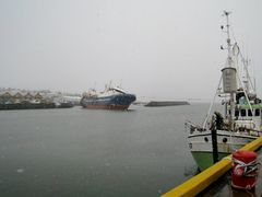 Lomur II stranded in Kopavogur harbour by <b>Sig Holm</b> ( a Panoramio image )
