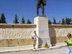 Statue of Leonidas at Thermopylae by <b>Daniel Sacota</b> ( a Panoramio image )