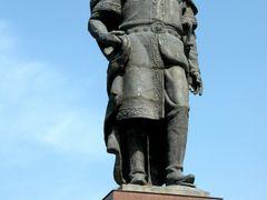 Uzbekistan, Sharishabz: statua di Tamerlano by <b>robertoreale</b> ( a Panoramio image )
