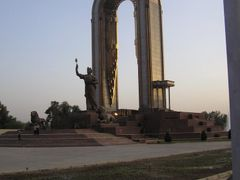 Somoni Monument at Sunset by <b>swbauerepfl</b> ( a Panoramio image )
