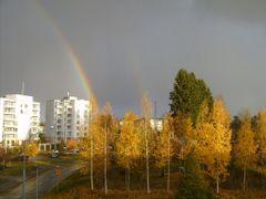 the rainbow, Noljakankaari, Joensuu, Fall of 2005 by <b>Skvortsova Tatyana</b> ( a Panoramio image )