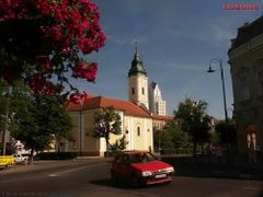 Church & red car - Felvidek Losonc PICT2856-1 by <b>Sardi A. Zoltan ?Budapest?</b> ( a Panoramio image )