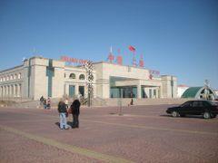 """China""""s border checkpoint by <b>Batjav Tsanjid</b> ( a Panoramio image )"""