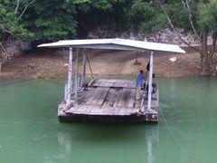 """""""Ferry"""" to Xunantunich by <b>© Kojak</b> ( a Panoramio image )"""