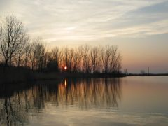 "Sunset on McGeachy""s Pond by <b>Patty Arsenault</b> ( a Panoramio image )"