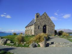 New Zealand - Tekapo - Church of the good Shepherd by <b>Noud</b> ( a Panoramio image )