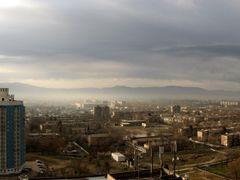 Tajik skyscraper, 16 floor building. Dushanbe, Tajikistan. by <b>Parviz.Tj</b> ( a Panoramio image )