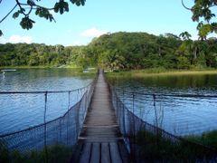 GUATEMALA Pasarela entre islas, Lago Peten Itza by <b>Talavan</b> ( a Panoramio image )