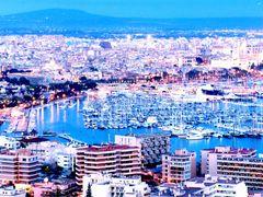 Palma de Mallorca - Paseo Maritimo y Catedral visto desde el Cas by <b>javier herranz</b> ( a Panoramio image )