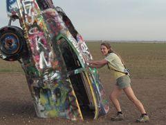 Cadillac Ranch - Amarillo TX by <b>Pieter en Marianne van de Sande</b> ( a Panoramio image )