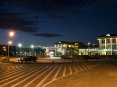 Yahya Kemal College, a night view AB 3-http://ykc.edu.mk by <b>Ahmet Bekir</b> ( a Panoramio image )