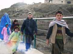 An Afghan Family pass the Bridge by <b>vetman</b> ( a Panoramio image )