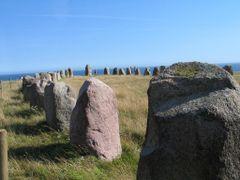 Schiffsetzung, Ale Stenar, Sudschweden by <b>Noricus</b> ( a Panoramio image )
