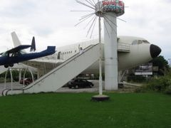 Charleroi Gilly airplane restaurant  (2009) by <b>bertgort</b> ( a Panoramio image )