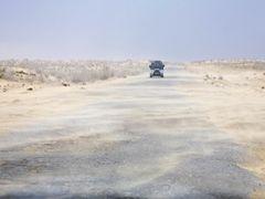 highway trough the Karakum desert by <b>Goetz Burggraf</b> ( a Panoramio image )
