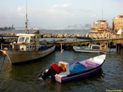 Windy day, Marina in Jaffa (26-MAR-03) #2 by <b>Ilya Borovok</b> ( a Panoramio image )