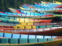 (messi 08) Boats at Phewa Lake [240°]  by <b>©polytropos</b> ( a Panoramio image )