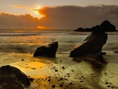 Pfieffer Beach Sunset by <b>Vincent James</b> ( a Panoramio image )