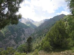 Abshir Pass far, view from Kapchagay (S) by <b>igor_alay</b> ( a Panoramio image )