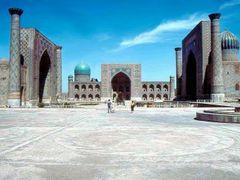 1985.04. - Samarkand, Regisztan square by <b>Farsang Peter</b> ( a Panoramio image )