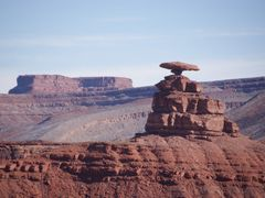 The Mexican Hat from 1 mile distance by <b>Janos Hajas</b> ( a Panoramio image )