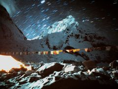 At Everest basecamp on yeti expedition 1989. by <b>Sochi2008</b> ( a Panoramio image )