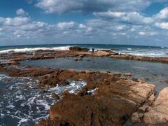 A pool of the Promontory Palace, Caesarea (FEB_MAR-1993) #1 by <b>Ilya Borovok</b> ( a Panoramio image )