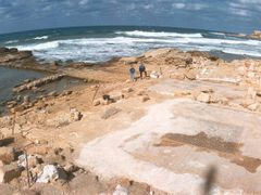 Ruins of the Promontory Palace, Caesarea (FEB_MAR-1993) #1 by <b>Ilya Borovok</b> ( a Panoramio image )