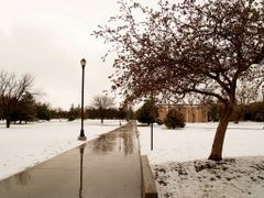 Snow at Eastern New Mexico Univeristy 3.13.09 by <b>ArdenZ</b> ( a Panoramio image )