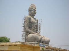Budha statue under construction, Amravati, andhra pradesh, india by <b>evdsastry</b> ( a Panoramio image )