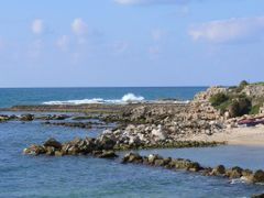 Ruins of an ancient wall, Caesarea by <b>Sparkhunter</b> ( a Panoramio image )