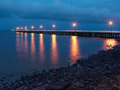 Shorncliffe jetty at night by <b>DarvidArt</b> ( a Panoramio image )