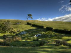 Hobbiton: The movie set (High Dynamic Range) by <b>GandalfTheWhite</b> ( a Panoramio image )