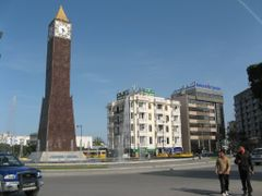 Bourguiba Clock Tower obelisk, Tunis by <b>htabor</b> ( a Panoramio image )