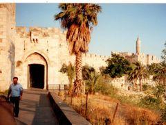 O portao de Jafa na entrada da Cidade Murada de Jerusalem by <b>RNLatvian</b> ( a Panoramio image )