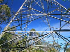 Pylon towering above Garigal National Park by <b>Steve Bennett</b> ( a Panoramio image )