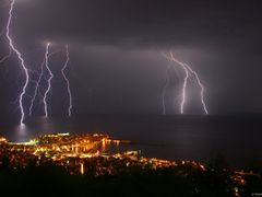Thunderstorm Night View by <b>airliner</b> ( a Panoramio image )