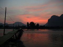 Sunset, Vang Vieng, Laos by <b>Placebo</b> ( a Panoramio image )