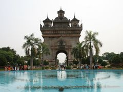 Laos.Vientiane(PaT uxay monument) by <b>bijan soleimani</b> ( a Panoramio image )