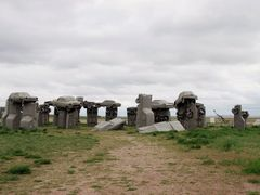 The world famous monument to solstice measuring, Carhenge.  by <b>not1word</b> ( a Panoramio image )