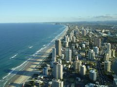 Australia. Gold Coast. View from top floor Q1 by <b>Igor_99</b> ( a Panoramio image )
